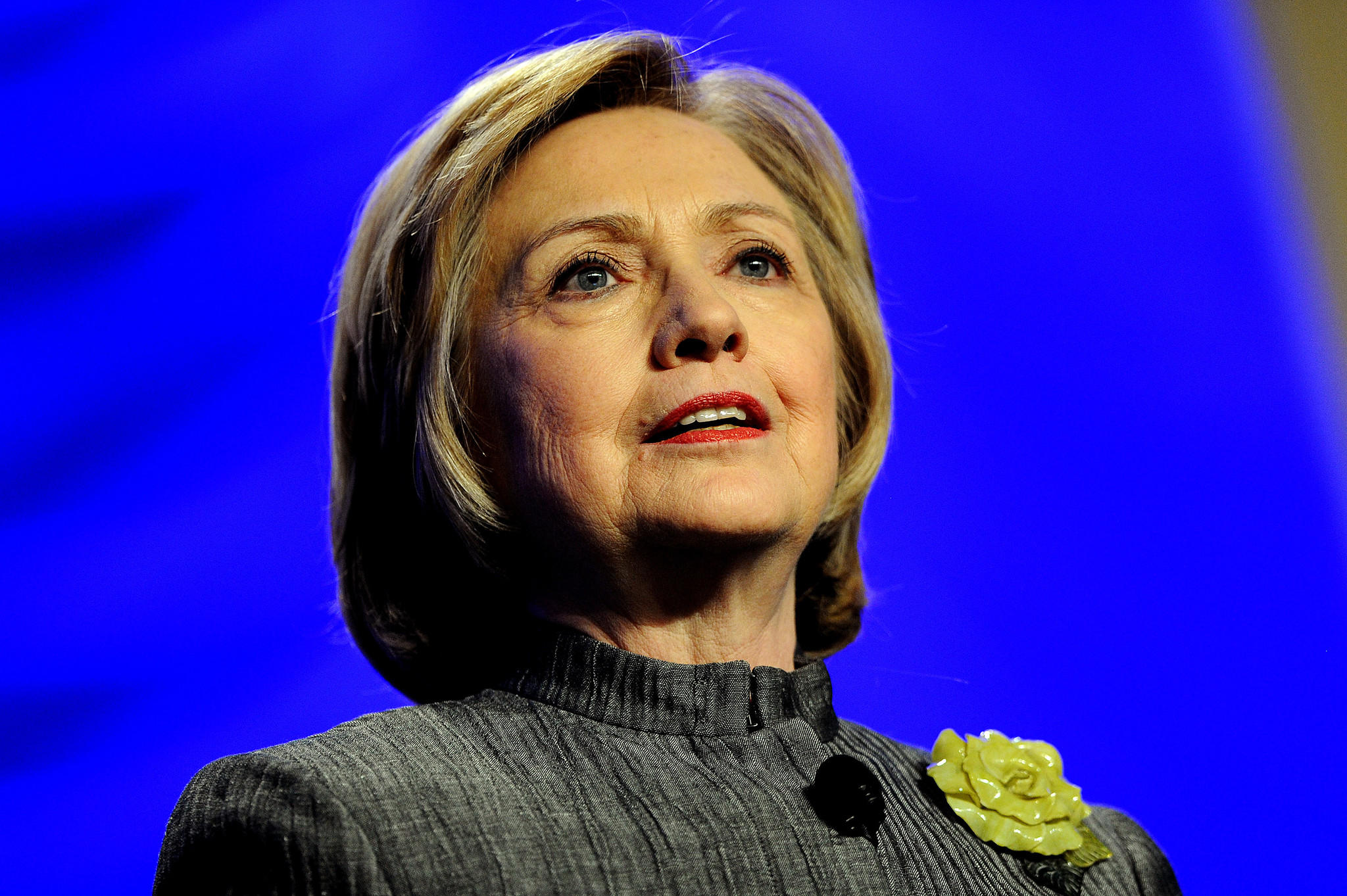Former Secretary of State Hillary Rodham Clinton delivers remarks during the National Council for Behavioral Health's Annual Conference at the Gaylord National Resort & Convention Center in National Harbor, Maryland.