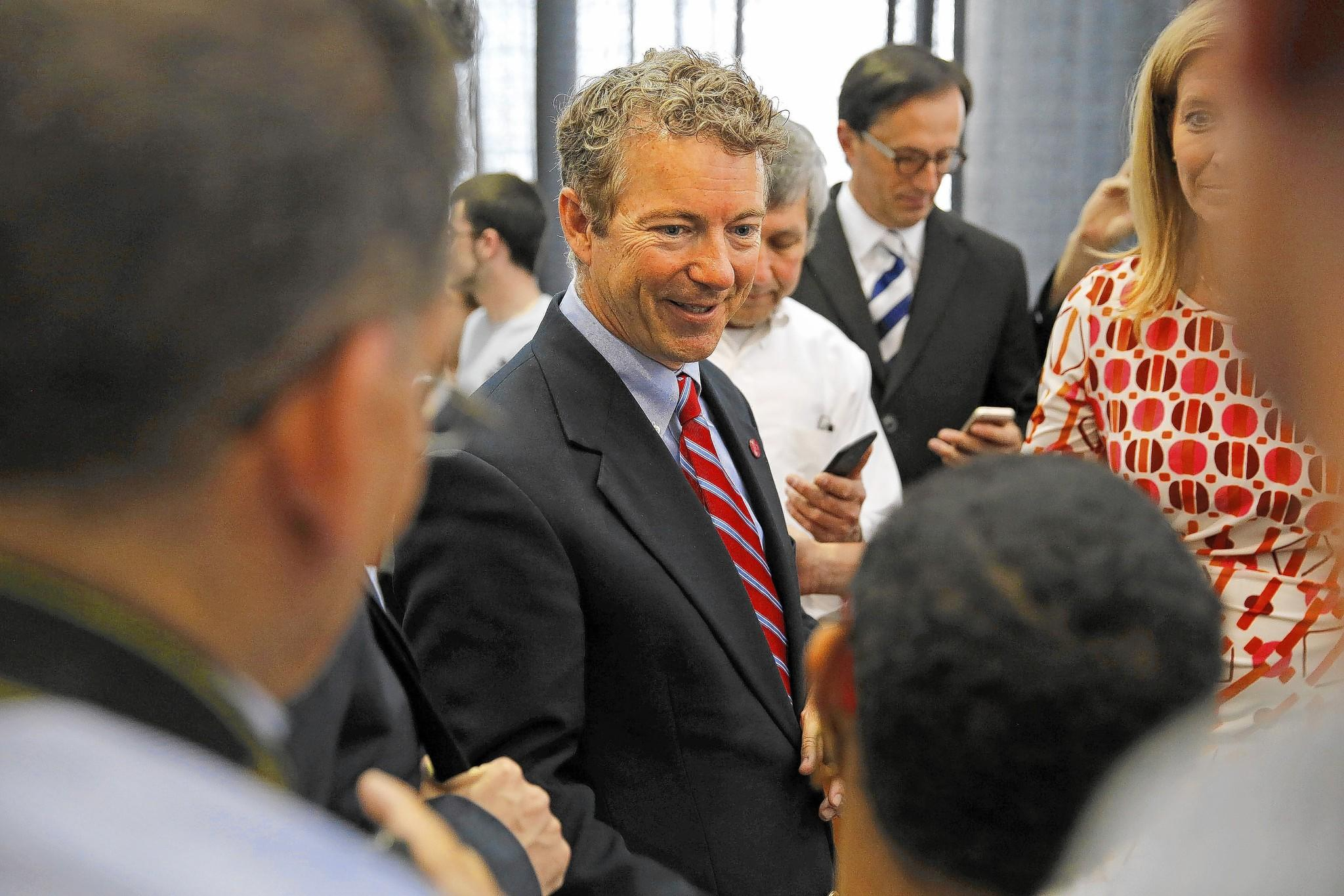 Sen. Rand Paul (R-Ky.) greets local parents, teachers, students, community leaders and school choice advocates after a recent discussion at Josephinum Academy in Chicago.