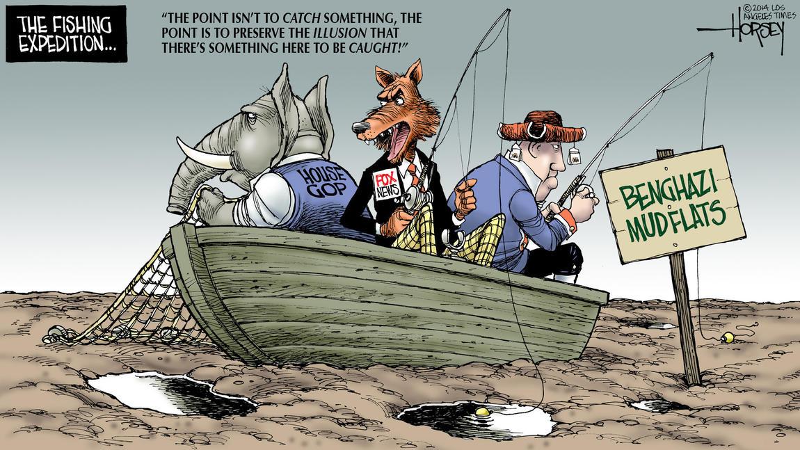 Editorial cartoon:  Fishing Expedition