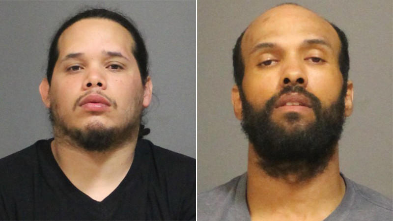 Joaquin Cedeno, left, and Joseph Murphy, right, were arrested after police said they sped away from officers and crashed a stolen car in West Hartford early Wednesday.