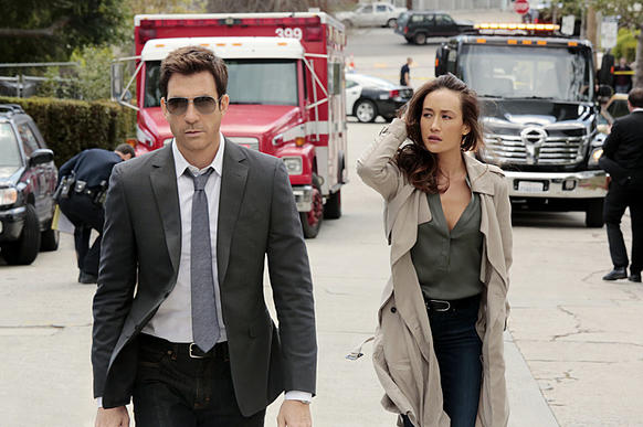 Dylan McDermott and Maggie Q