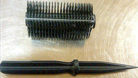 This dagger was hidden inside a hair brush at Kahului Airport Dillingham Airfield in Hawaii.