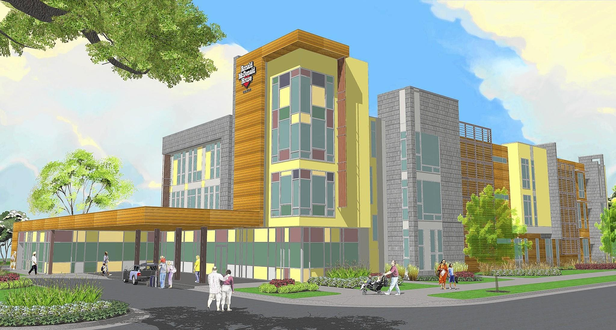 An artist's rendering shows what the new Ronald McDonald House by Nemours Children's Hospital could look like.
