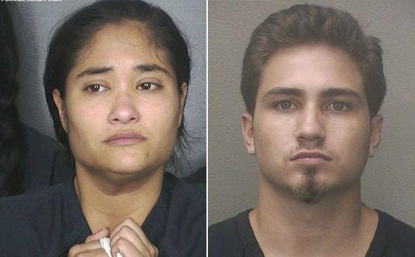 Arantxa Lipsky, 24, and Brooks Nunez, 23, are charged with child neglect and accused of running a drug operation out of their Deerfield Beach home.