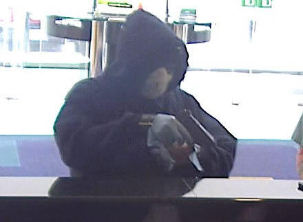 This surveillance photo shows the suspect in an armed robbery at the TD Bank branch at 346 W. Trenton Ave. in Morrisville, Bucks County on Wednesday, May 15.