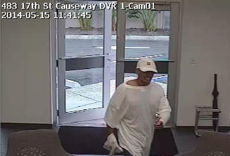 The FBI is searching for this man who robbed the Bank United branch located at 808 SE 17th St. in Fort Lauderdale.