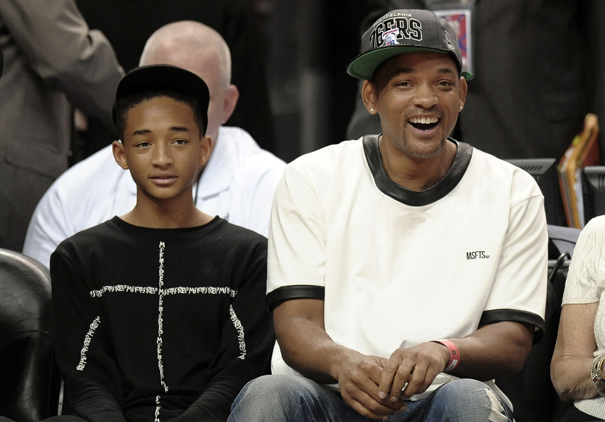 Celebs spotted at Miami Heat games - Will Smith (with son, Jaden)