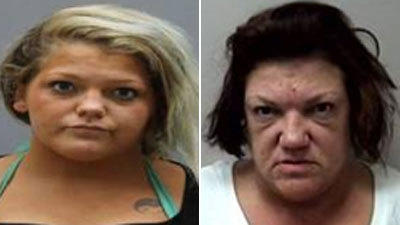 Kayla McKinney, 20, left, and her mother, Dena Heise, 48, were charged with illegally selling prescription drugs in Manchester.