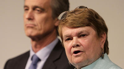 Sheila Kuehl and Bobby Shriver