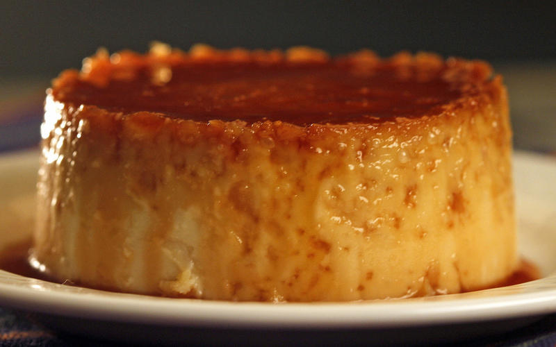 The Eatery's toasted coconut honey flan