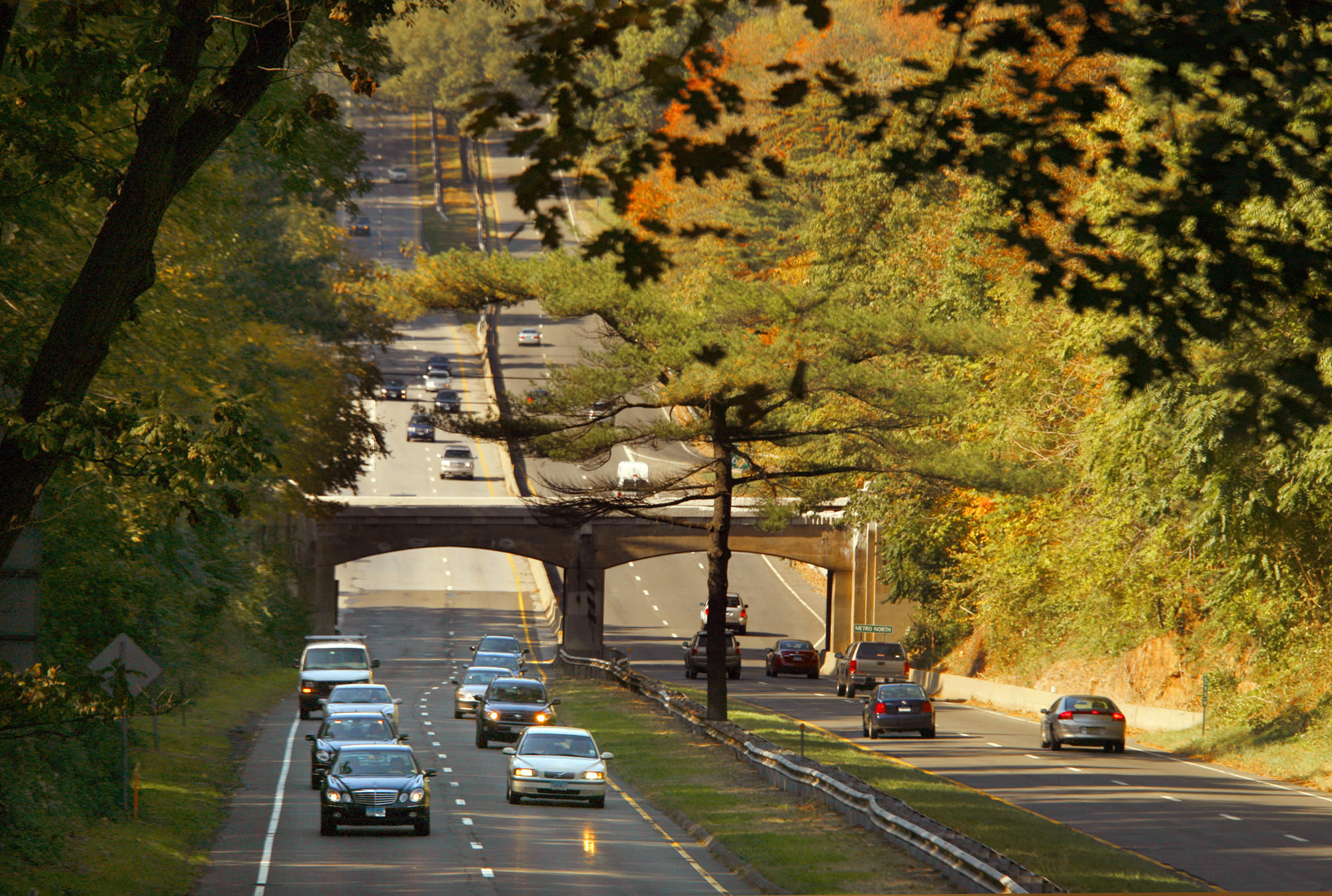A 2007 file photo of Connecticut's Merritt Parkway.