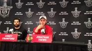 Video: Toews after the Blackhawks won Game 1