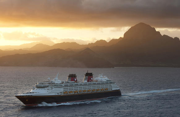 As part of Disney Cruise Line 2015 fall itineraries, the Disney Wonder will sail to Kiwiliwili on the mountainous island of Kauai, Hawaii.