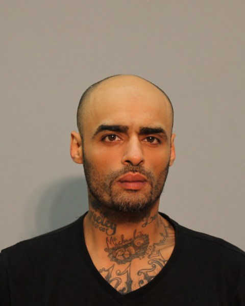Sixto A. Delgado, 34, was charged with criminal possession of a firearm by a convicted felon, carrying a weapon in a motor vehicle, possession of hallucinogens, possession of marijuana and criminal possession of ammunition