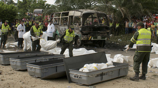 Colombia bus fire victims