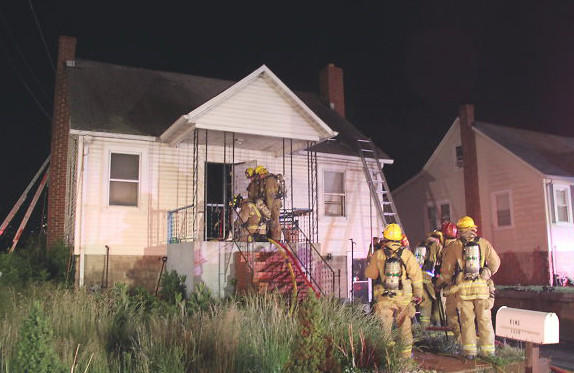 At 1 a.m. May 20, 2014, firefighters and paramedics from Howard County Department of Fire and Rescue Services (HCDFRS), Baltimore County and Anne Arundel County responded to a report of a house fire in the 7300 block of Montgomery Road in Elkridge.