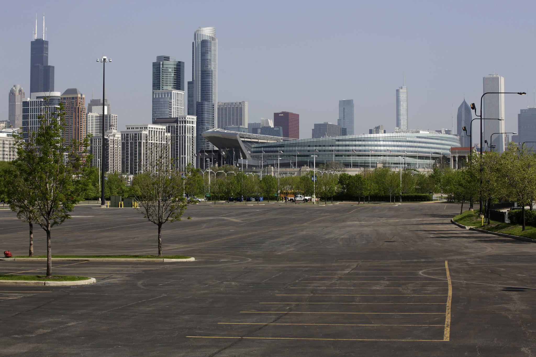 The parking lots between McCormick Place and Soldier Field are the proposed Chicago museum site for George Lucas' collection of art and movie memorabilia.