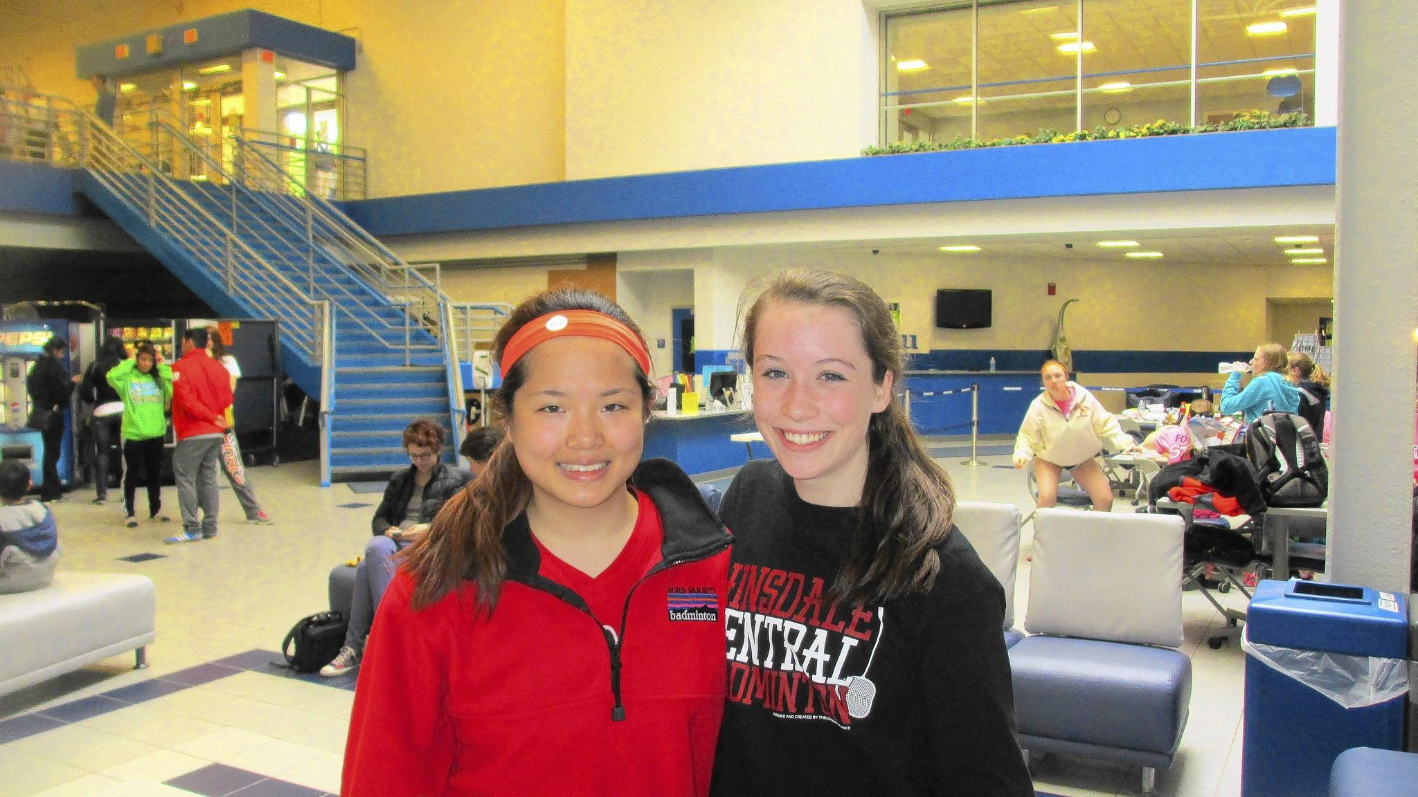 Red Devils Amy Wey, left, and Samantha McClary qualified for the two-day state meet in Charleston, Ill.