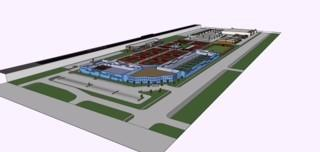 A rendering of the XS Tennis Village, a 27-court facility planned in the Washington Park neighborhood.