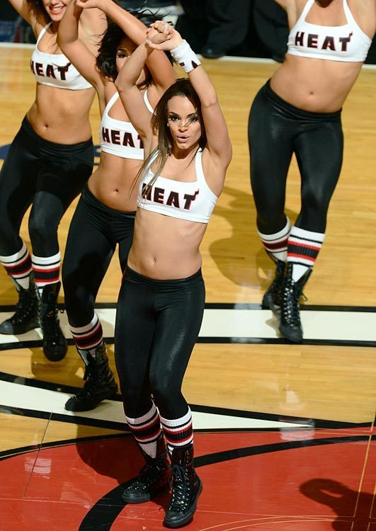 Photos: Miami Heat Dancers in action - Miami Heat dancer