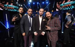 Scott Marshall, second from right, was crowned Ink Master at SIR Stage 37 on May 20, 2014 in New York City.