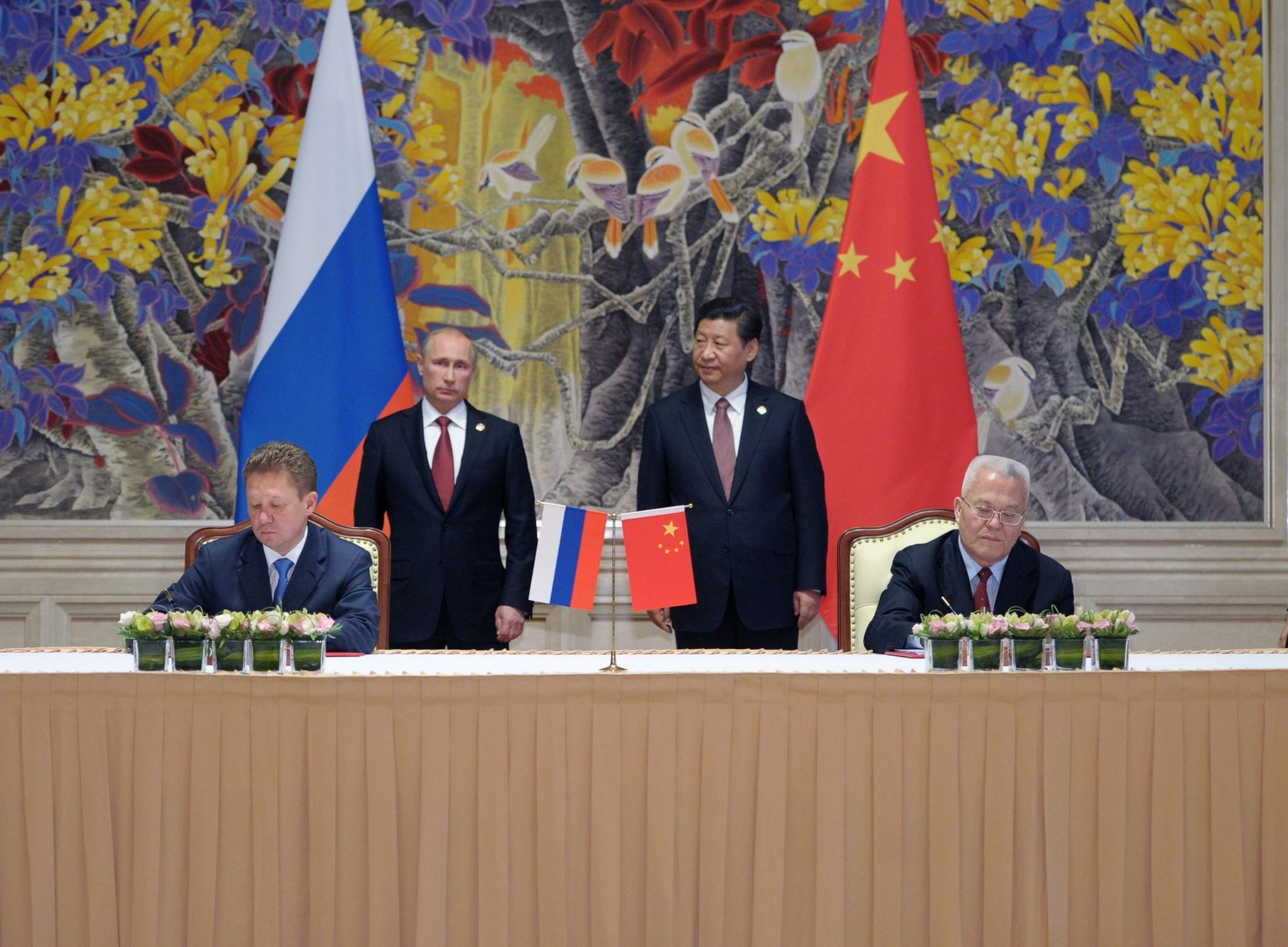 Resultado de imagen de Putin xI jINPING sign gas deal
