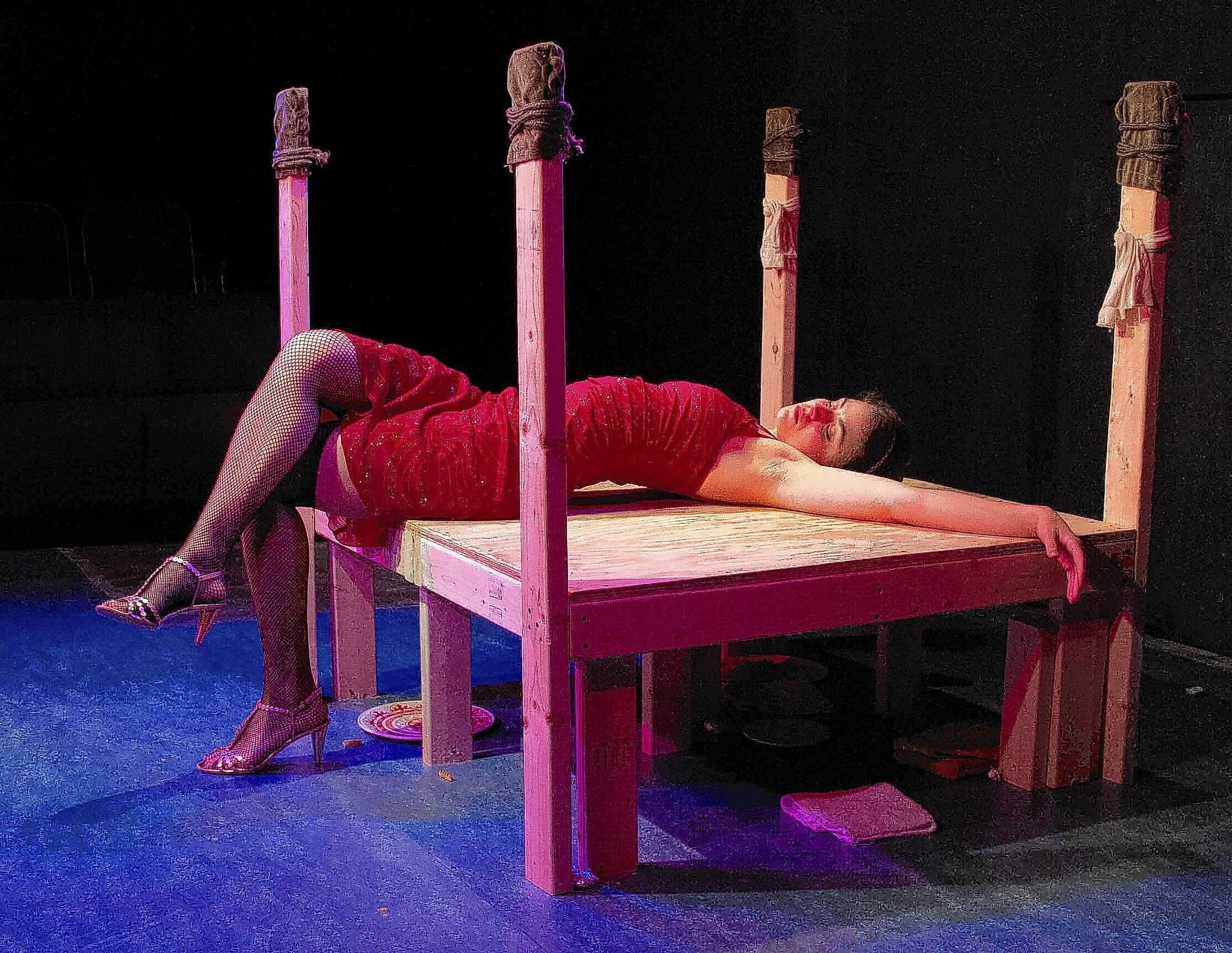 Daven Ralston as Isabel in Light of Night at Venus Theatre.