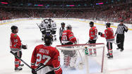 Kings rout Blackhawks 6-2 to even series