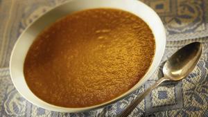 Sally Lunn's carrot, lentil and cumin soup