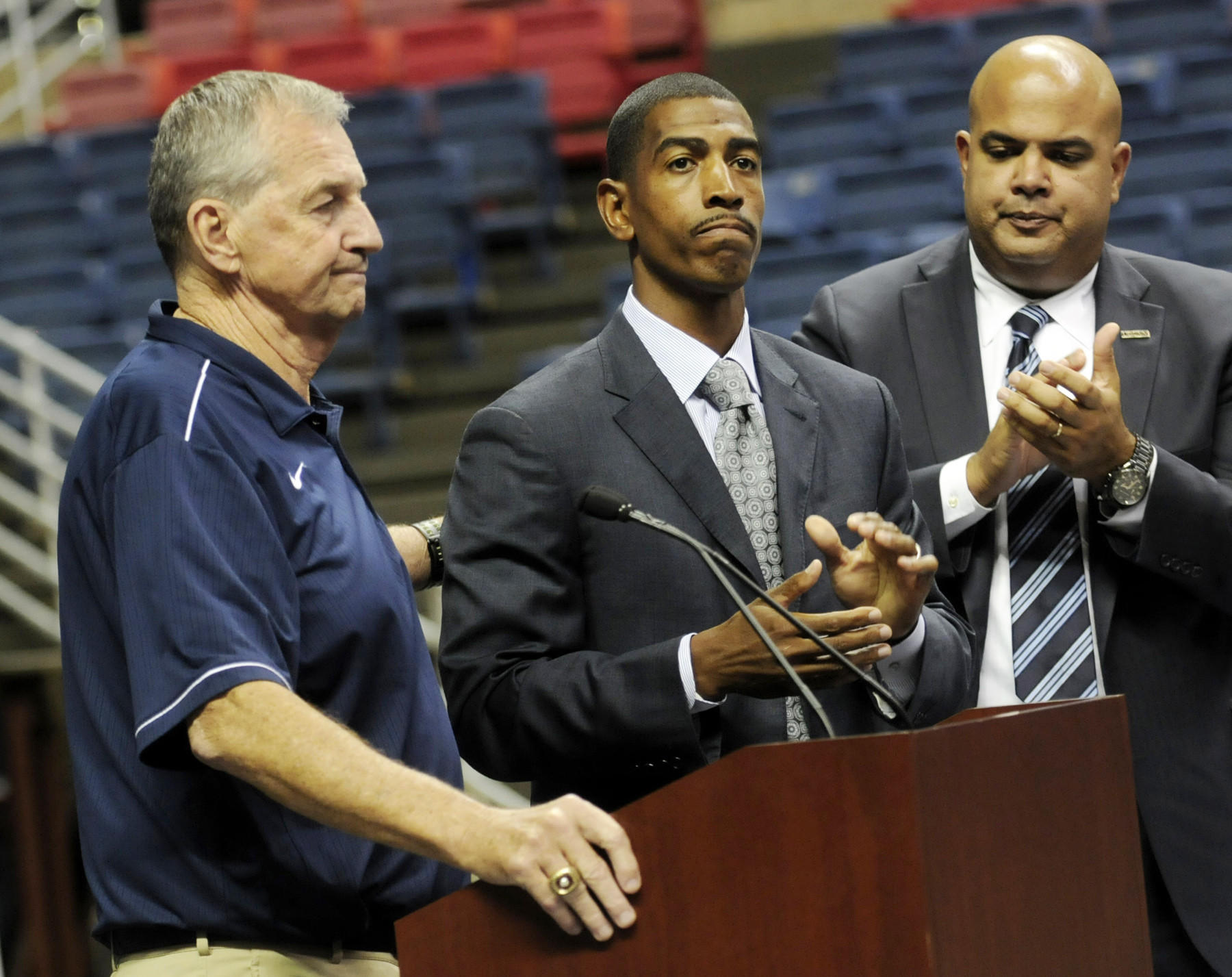 When Jim Calhoun announced his retirement in September 2012 after 26 years as head coach, Athletic Director Warde Manuel turned to Kevin Ollie. After winning the 2014 national championship, Ollie has signed a new five-year contract.