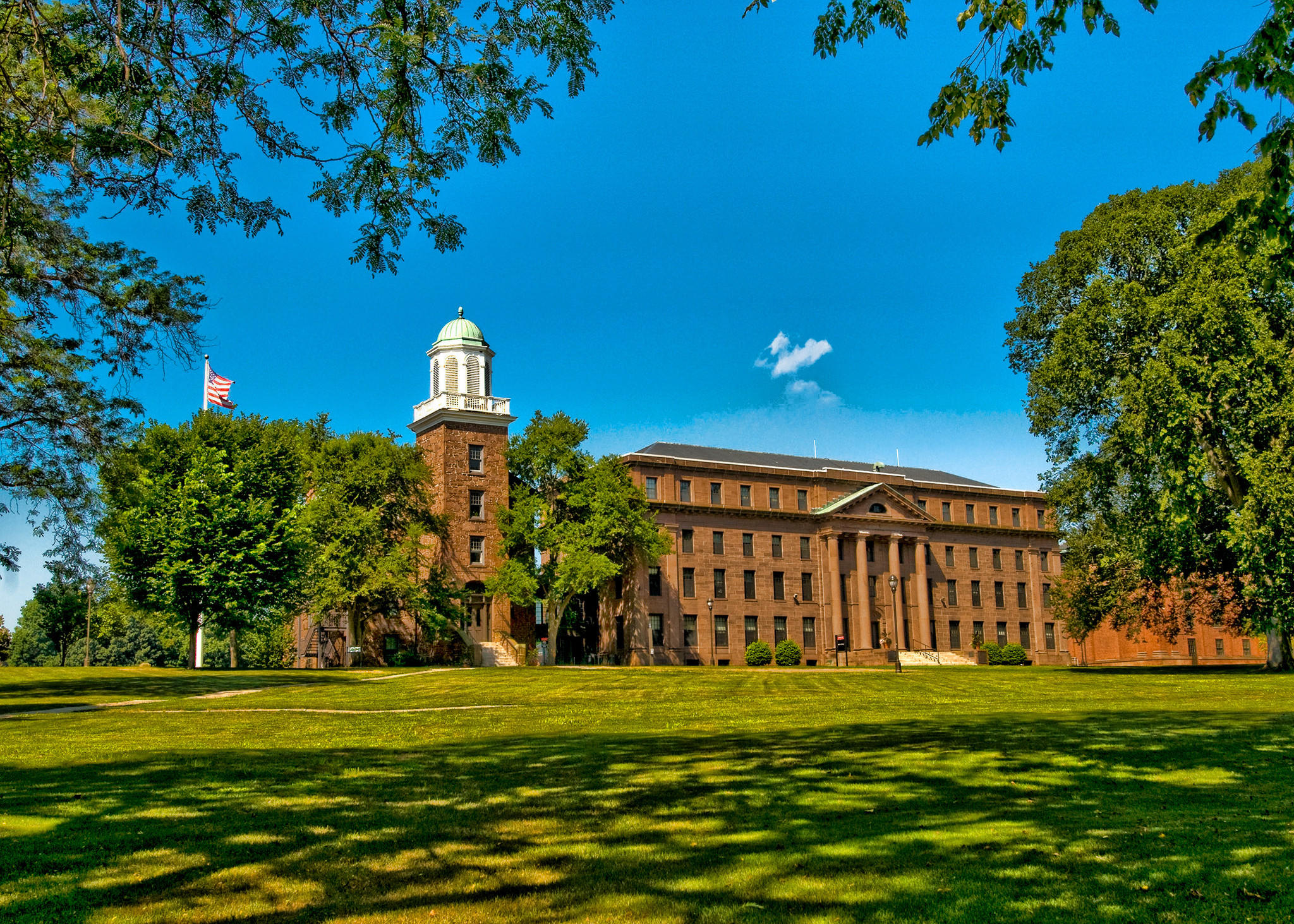 A view of Wesleyan's Middletown campus.