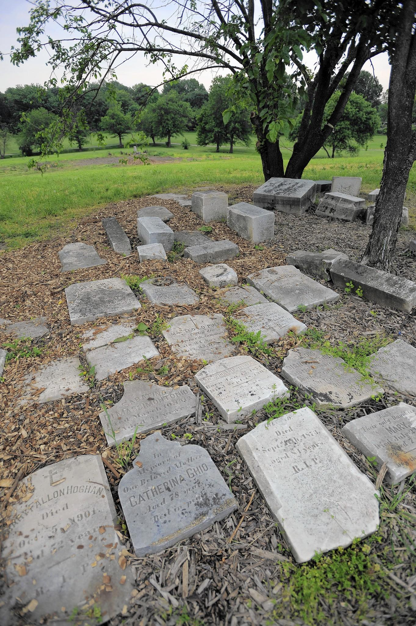 For his Eagle Scout project, John Patrick Nolan III took action at St. Vincent's Cemetery, in which cemetery stones were reclaimed, and the land has been cleared of overgrowth.
