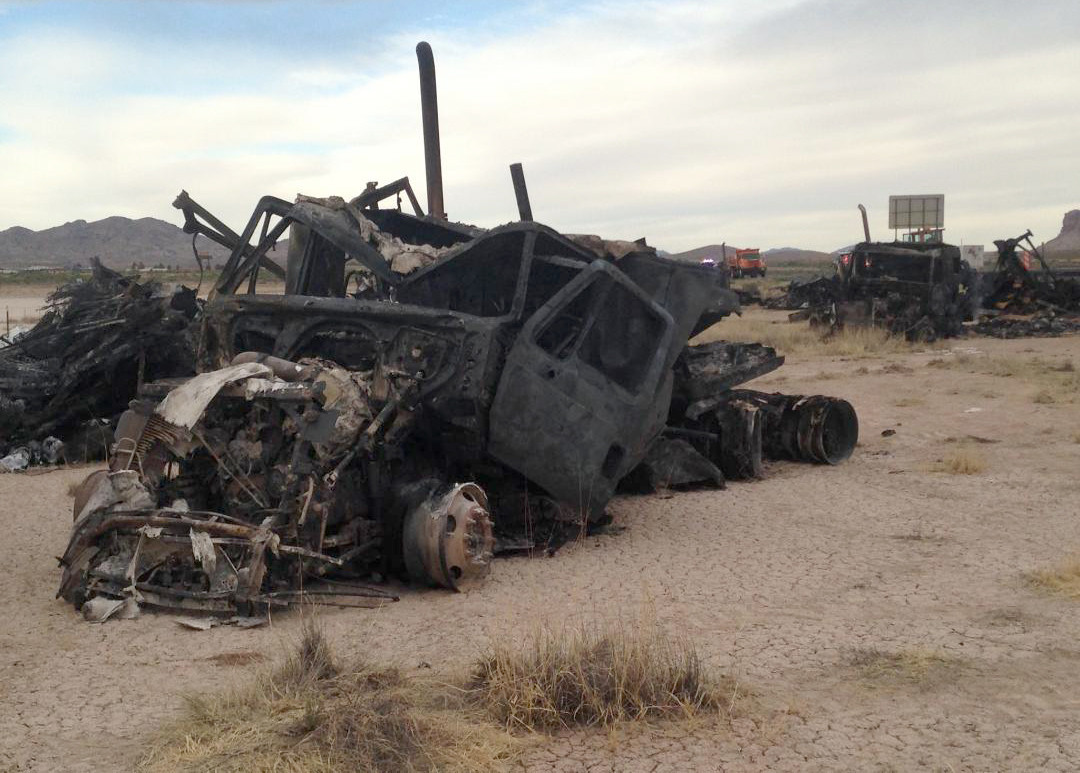 Car Pileup In New Mexico