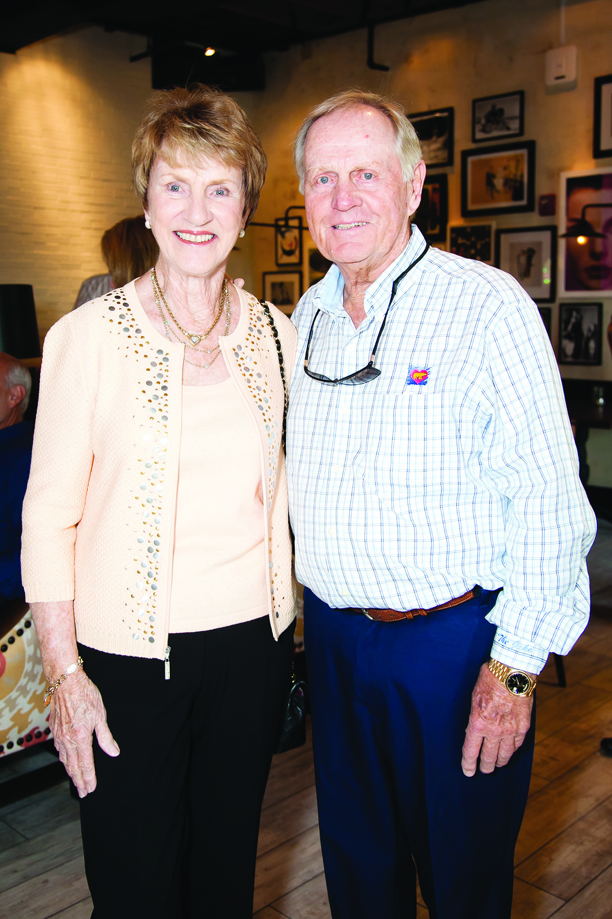 Society Scene photos - Barbara and golf legend Jack Nicklaus