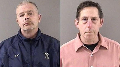 Kenneth Krause, 34, of Wallingford, left, and Mitchell Grant, 53, of North Haven were arrested Thursday in Wallingford and charged with possession of heroin.