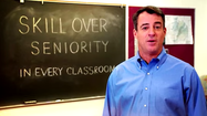 Gansler spot focuses on teachers' effectiveness
