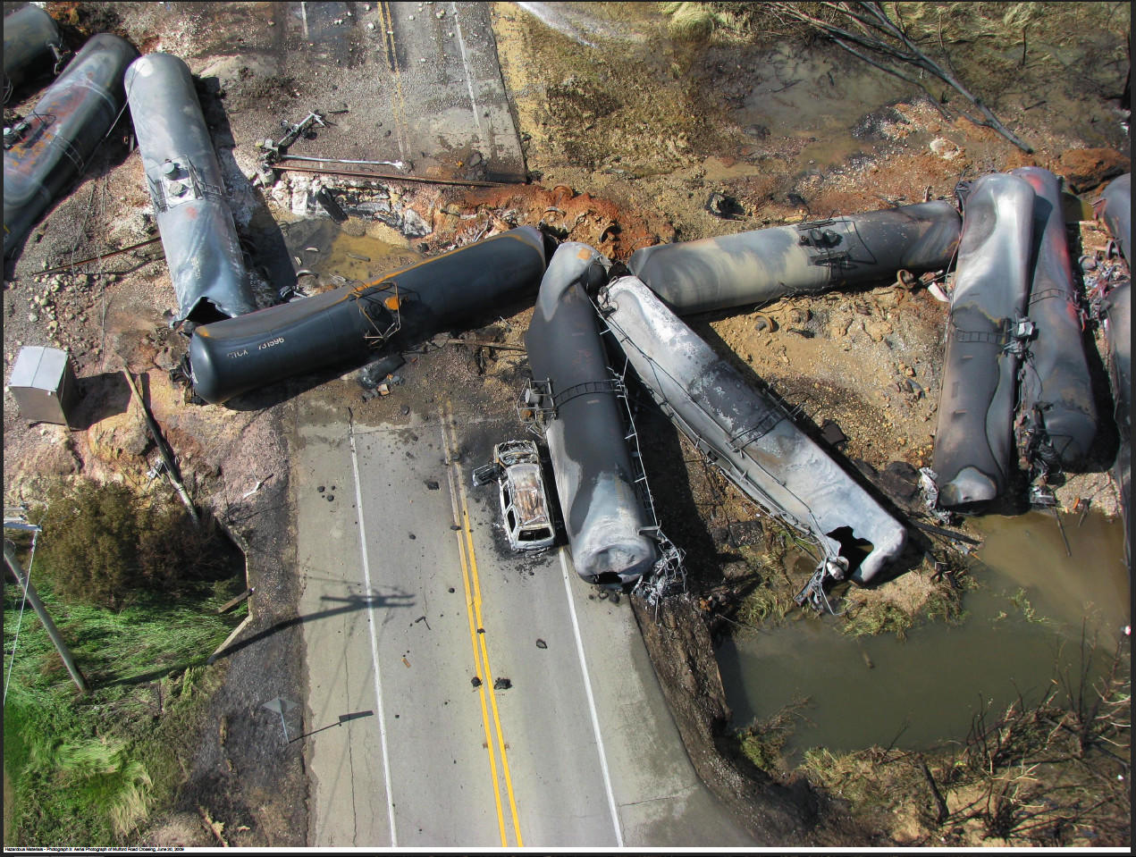 In 2009, a Canadian National freight train hauling 75 tank cars with ethanol derailed and erupted into a massive fireball in Cherry Valley, near Rockford. Although firefighters had about 400 gallons of foam on hand and more on the way, they concluded it wasn't enough to put out the fire.