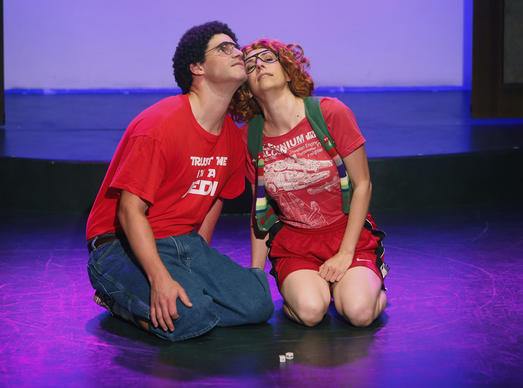 "The Groundlings is celebrating its <a href=""http://www.latimes.com/entertainment/arts/la-et-cm-groundlings-20140525-story.html"" target=""_blank"">40th anniversary</a> by hosting improv shows by the decades, bringing back alumni from each era, through July 12. Here, Greg Worswick and Lauren Burns star in a skit called ""Roll the Dice."""