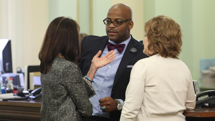 State Sen. Isadore Hall III (D-Compton) authored one of the pay-equity bills the governor signed Friday. (Rich Pedroncelli / Associated Press)