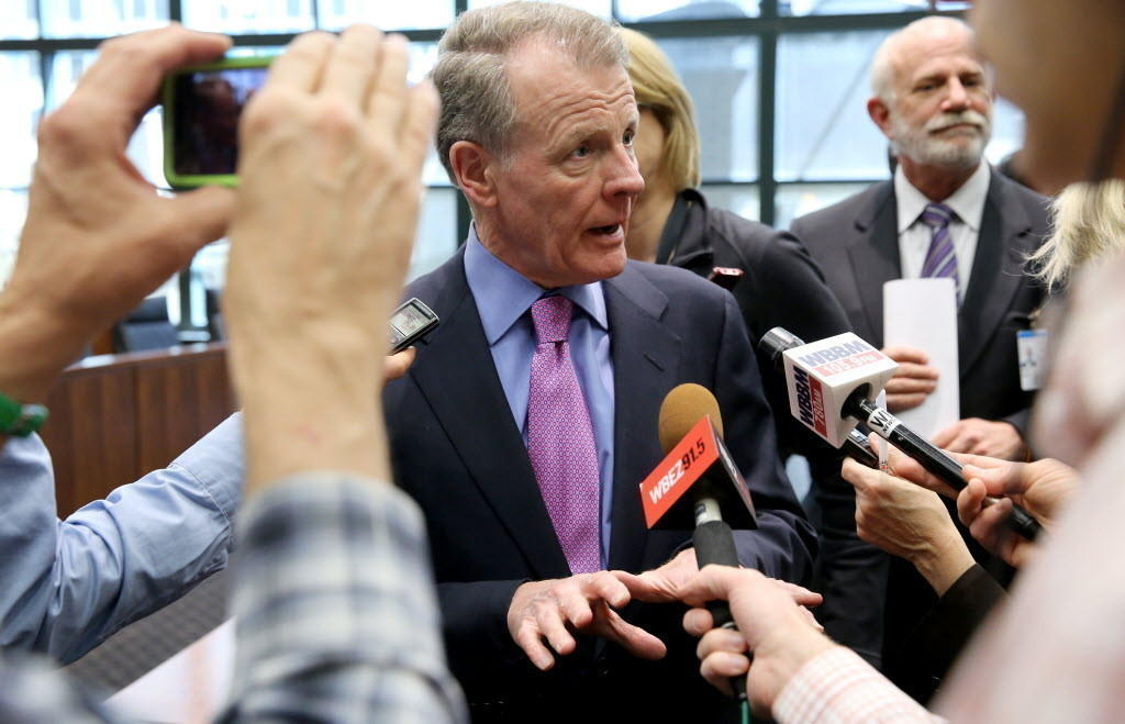 House Speaker Michael Madigan, seen here last month, is pushing through a state budget.