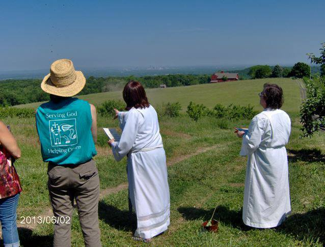 Members of St. Luke's Episcopal Church bless the fields of South Glastonbury last year.