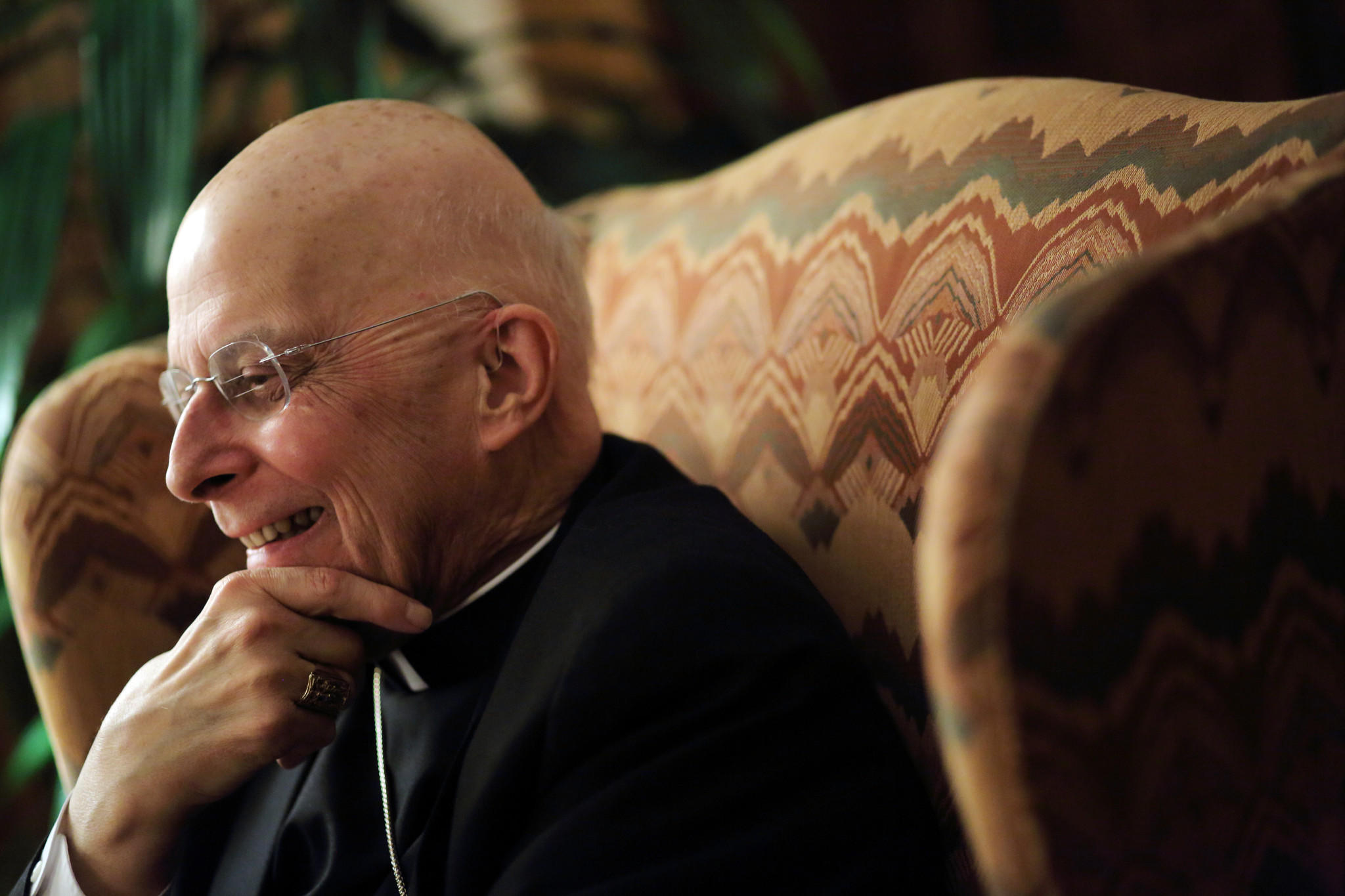 Cardinal Francis George at his residence in February 2013.