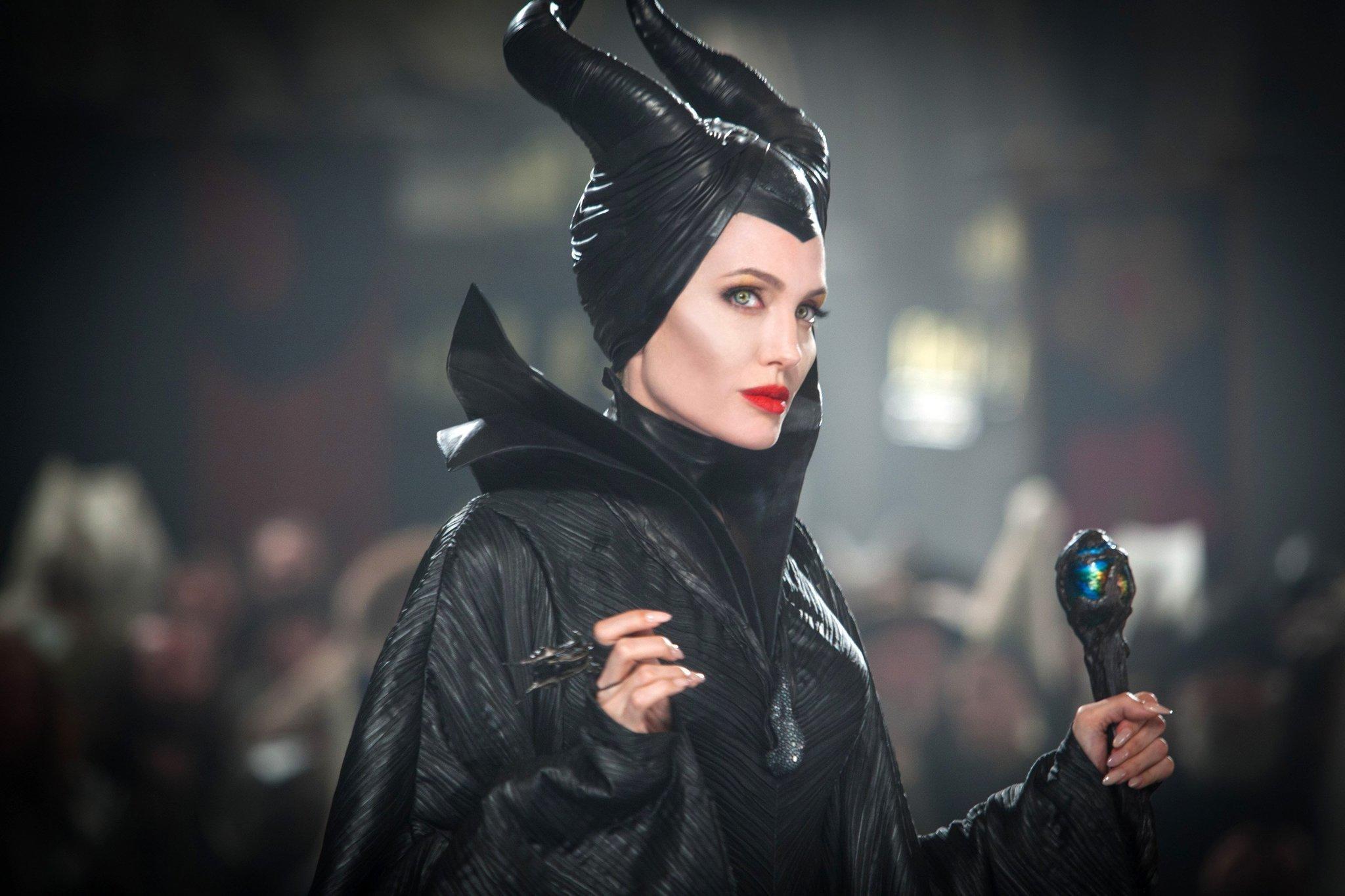 "Angelina Jolie stars in Disney's ""Maleficent."""