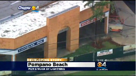 Men Struck By Lightning In Pompano Beach