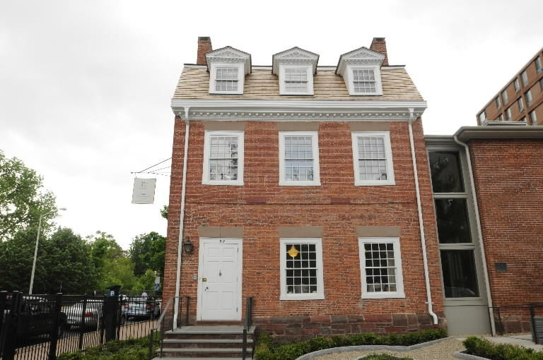 The Amos Bull house, which dates from 1788 and is the first state building listed on National Register of Historic Houses.