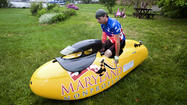 Greg Cantori's velomobile turns heads, keeps pace