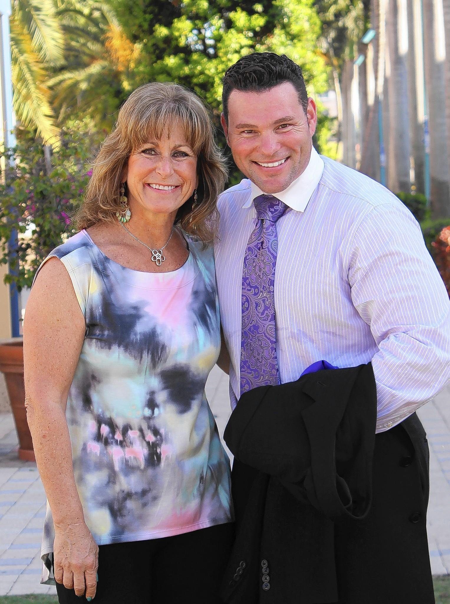 Newly appointed board member, Jarred Elmar, with Amy Greenfield, director of WOAMTEC