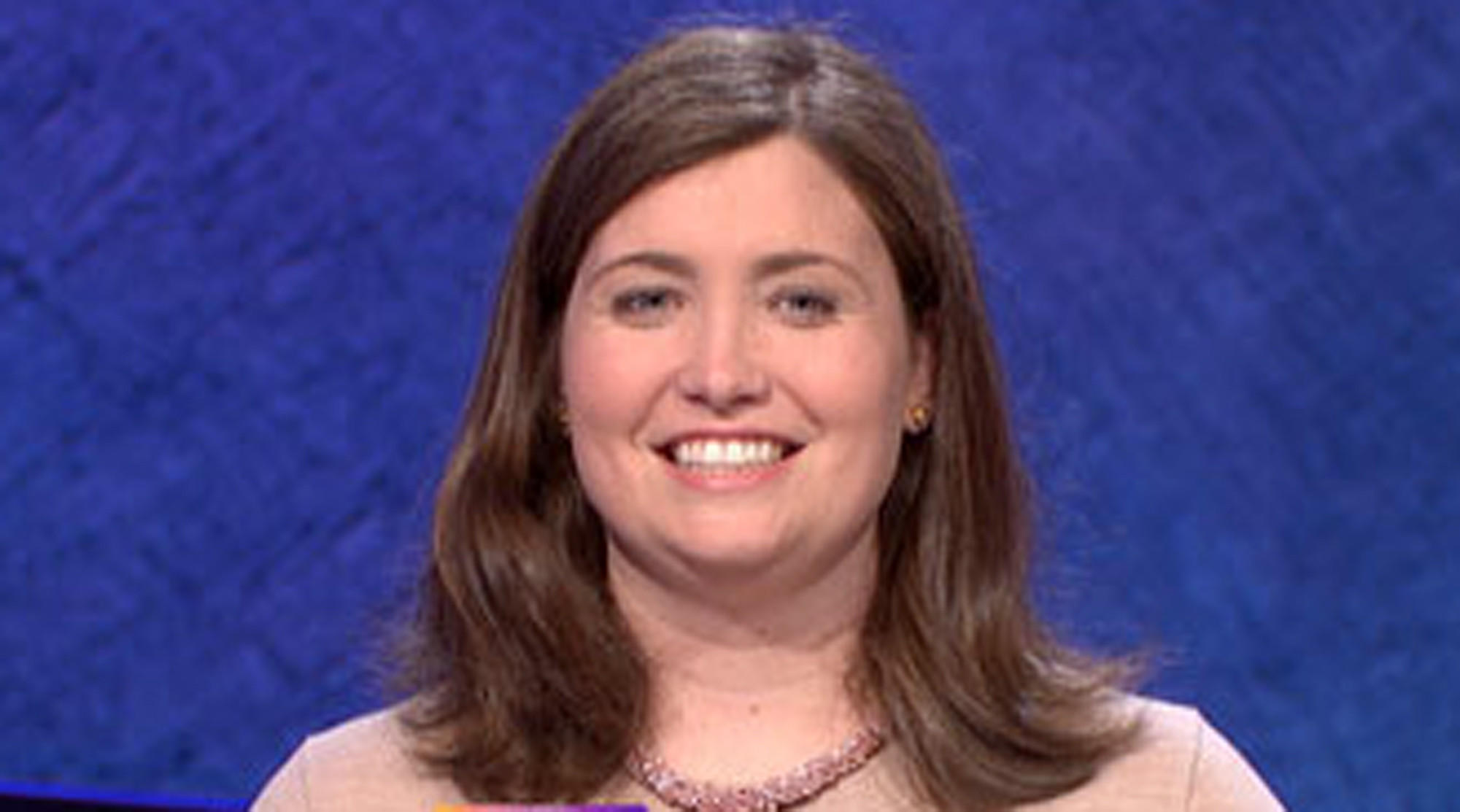 "Julia Collins appears on ""Jeopardy!"""