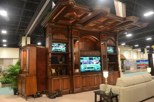 The Pacillo 39 S Custom Furnitrue Comany Booth On The First Day Of The Fort Lauderdale Home Design