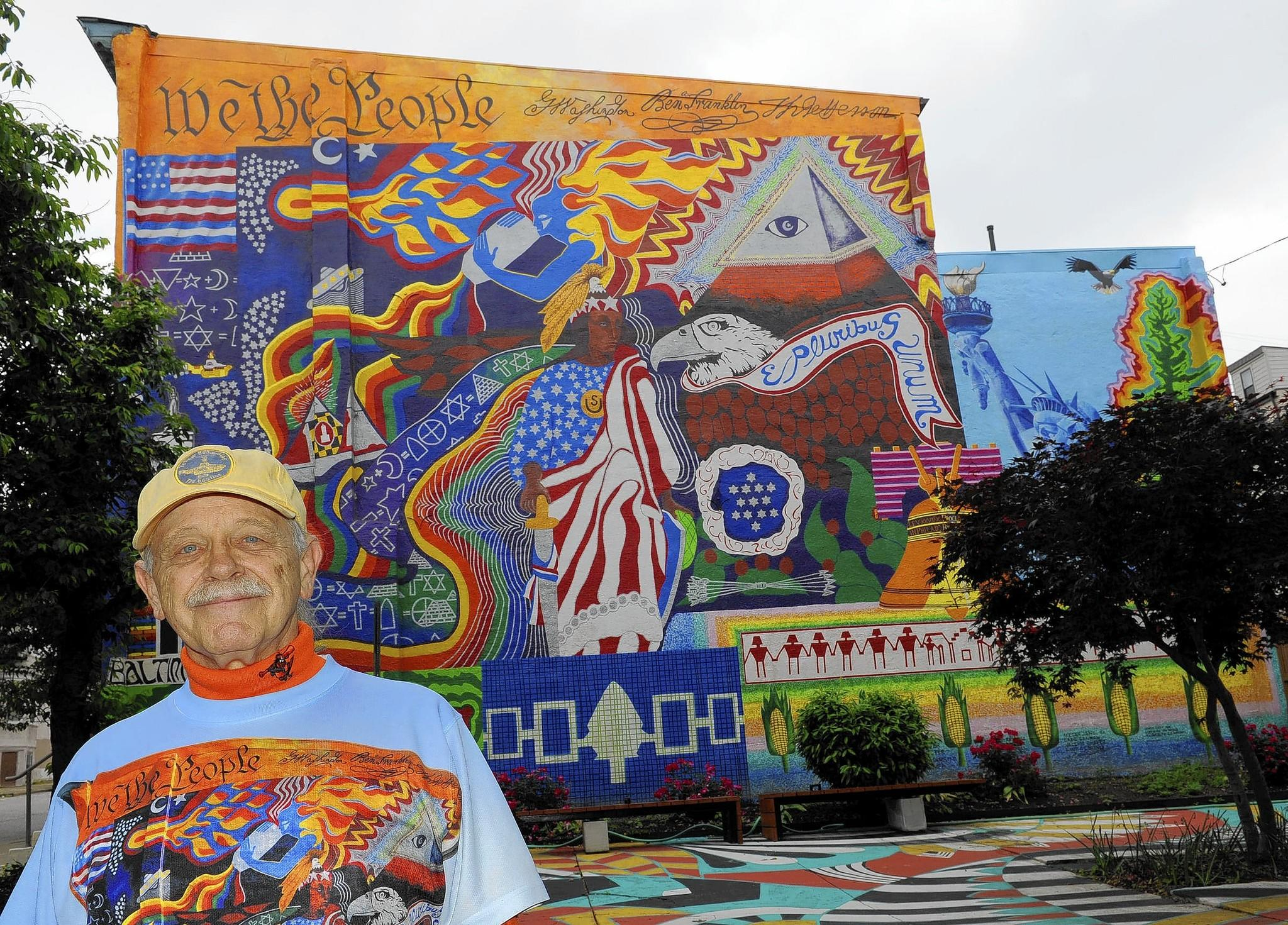 Dr. Bob Hieronimus' mural at St. Paul and Lafayette streets will be rededicated on June 6.